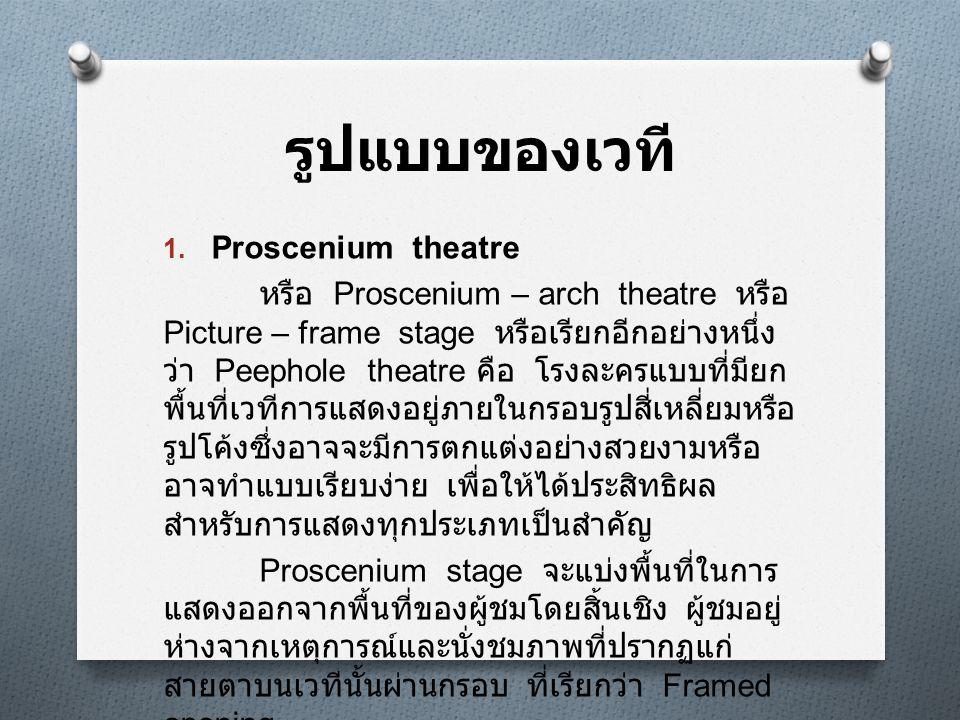 รูปแบบของเวที Proscenium theatre