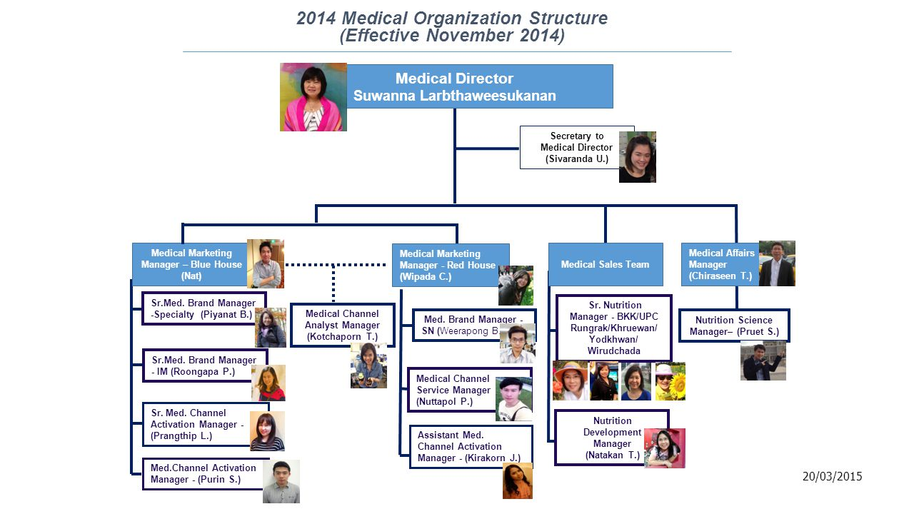 2014 Medical Organization Structure (Effective November 2014)