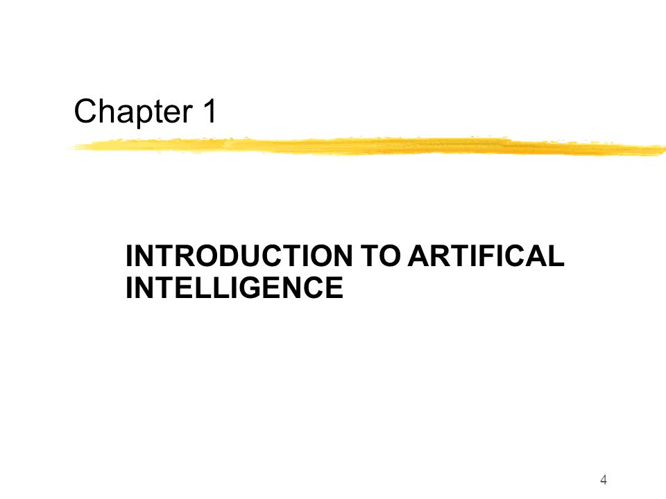 INTRODUCTION TO ARTIFICAL INTELLIGENCE