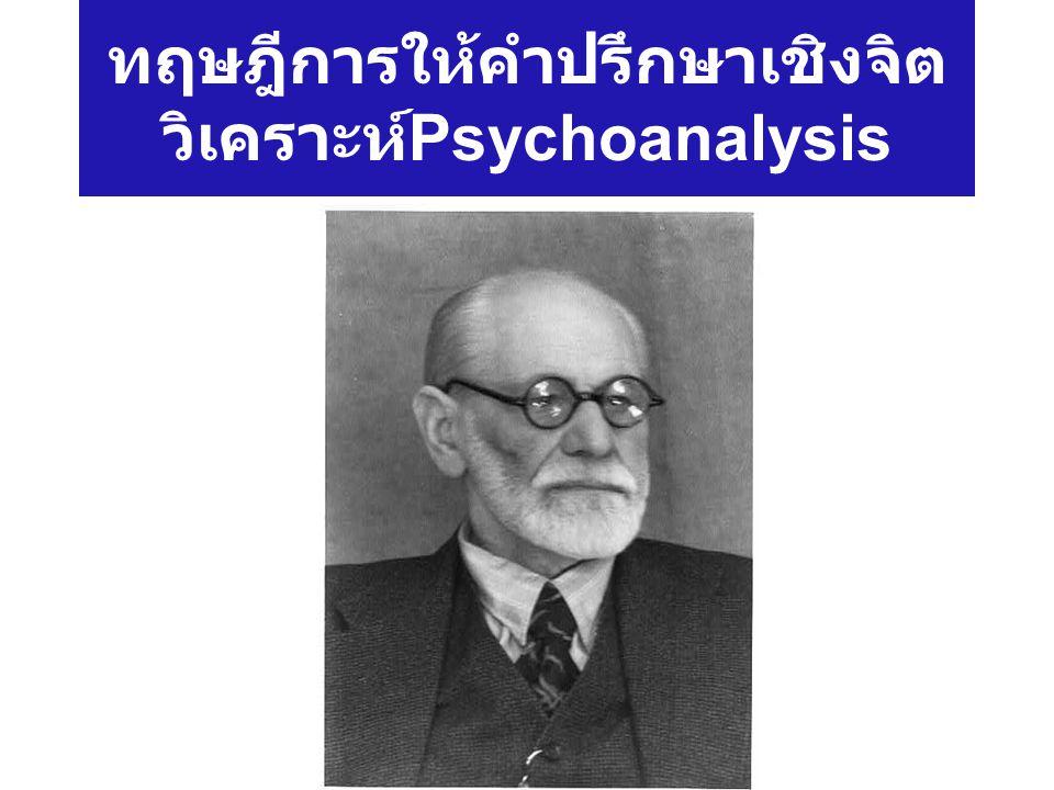 ทฤษฎีการให้คำปรึกษาเชิงจิตวิเคราะห์Psychoanalysis