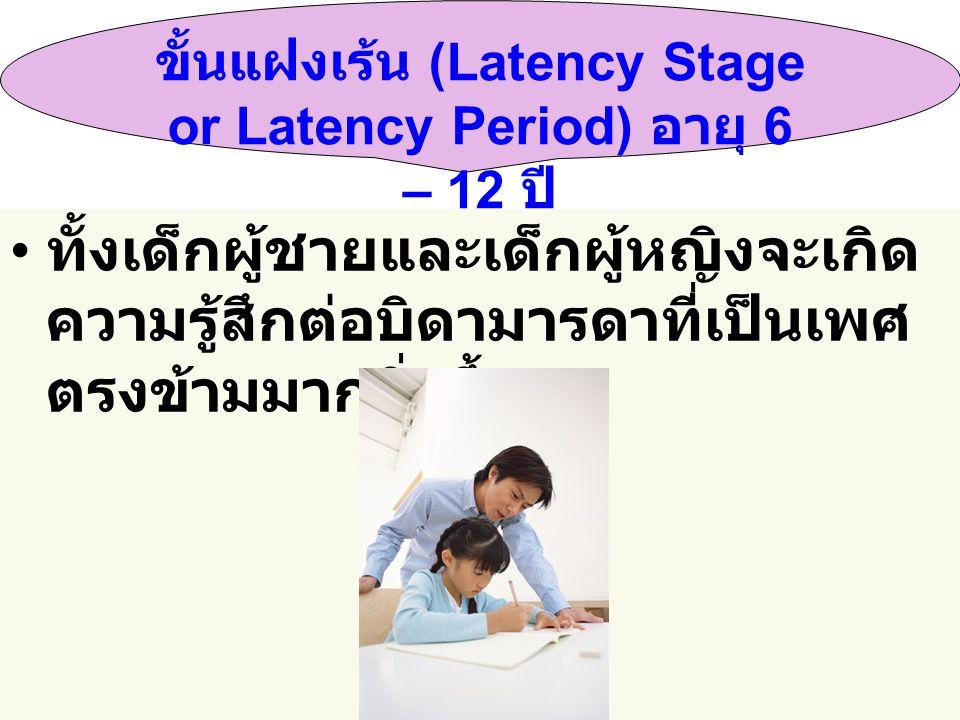 ขั้นแฝงเร้น (Latency Stage or Latency Period) อายุ 6 – 12 ปี