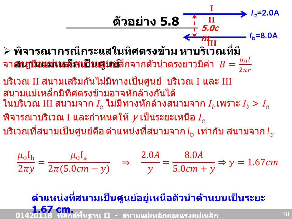 01420118 ฟิสิกส์พื้นฐาน II - สนามแม่เหล็กและแรงแม่เหล็ก