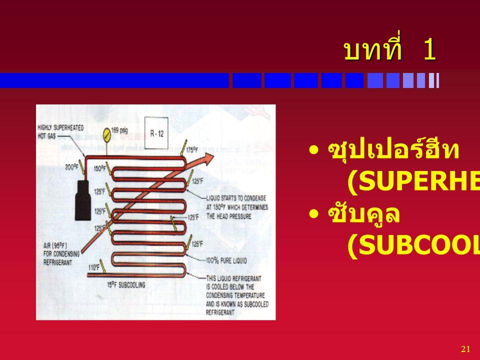 บทที่ 1 ซุปเปอร์ฮีท (SUPERHEAT) ซับคูล (SUBCOOLED)