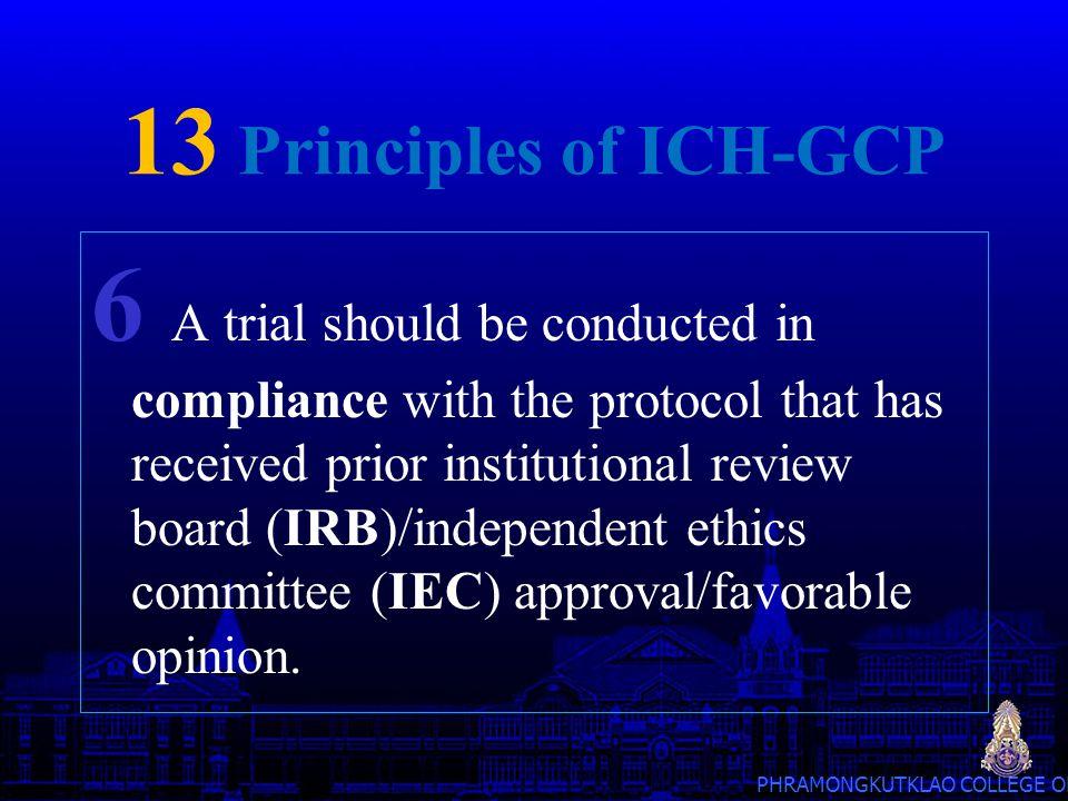 13 Principles of ICH-GCP
