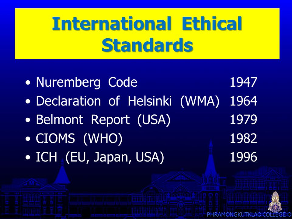 International Ethical Standards
