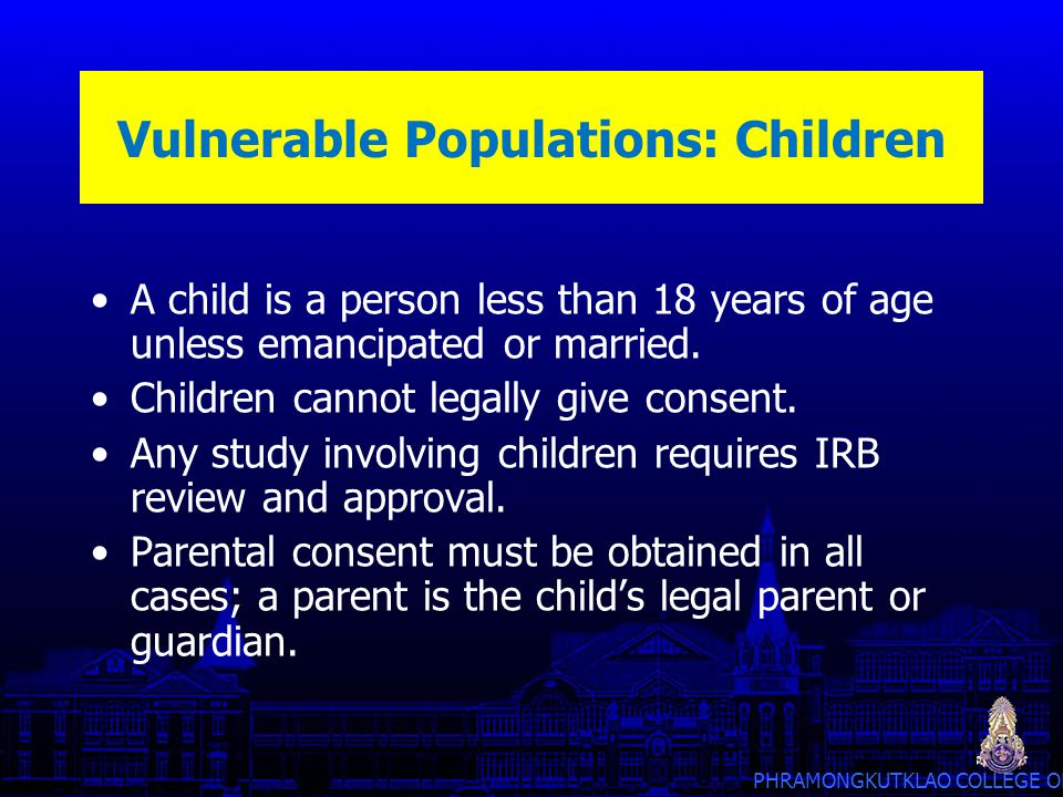 Vulnerable Populations: Children