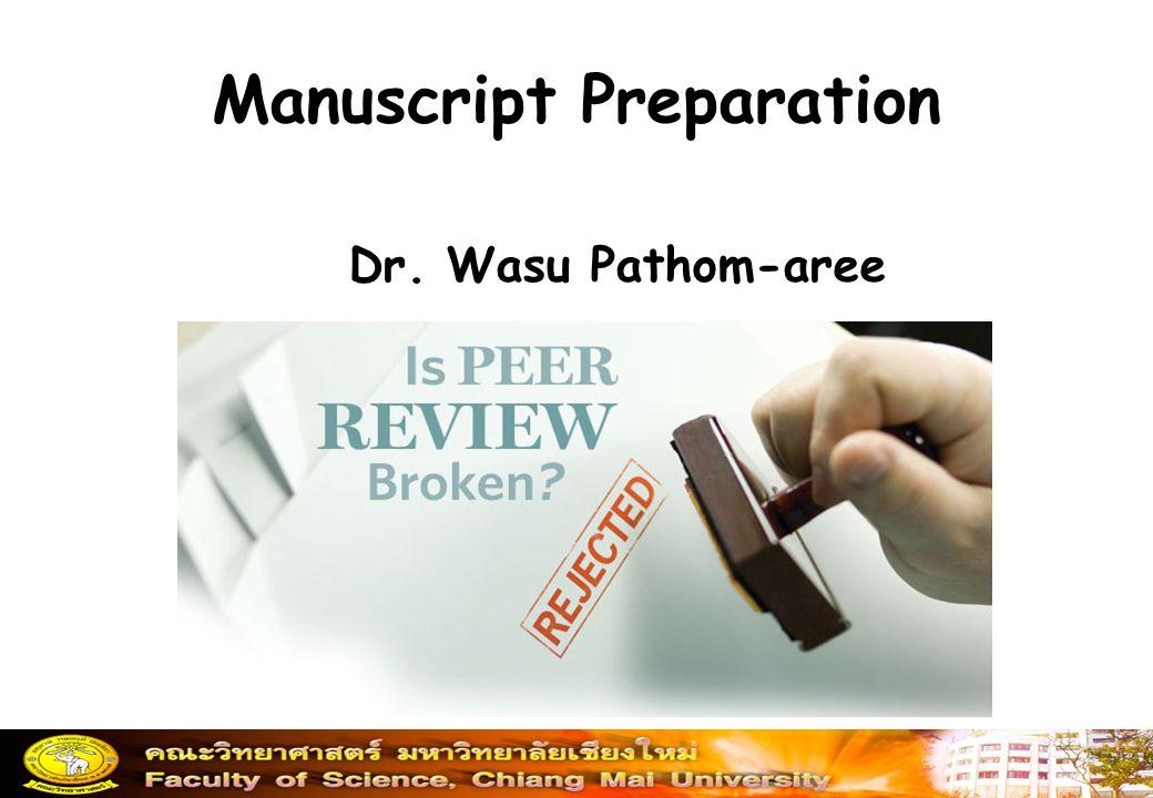 Manuscript Preparation
