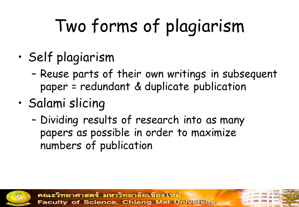 Two forms of plagiarism