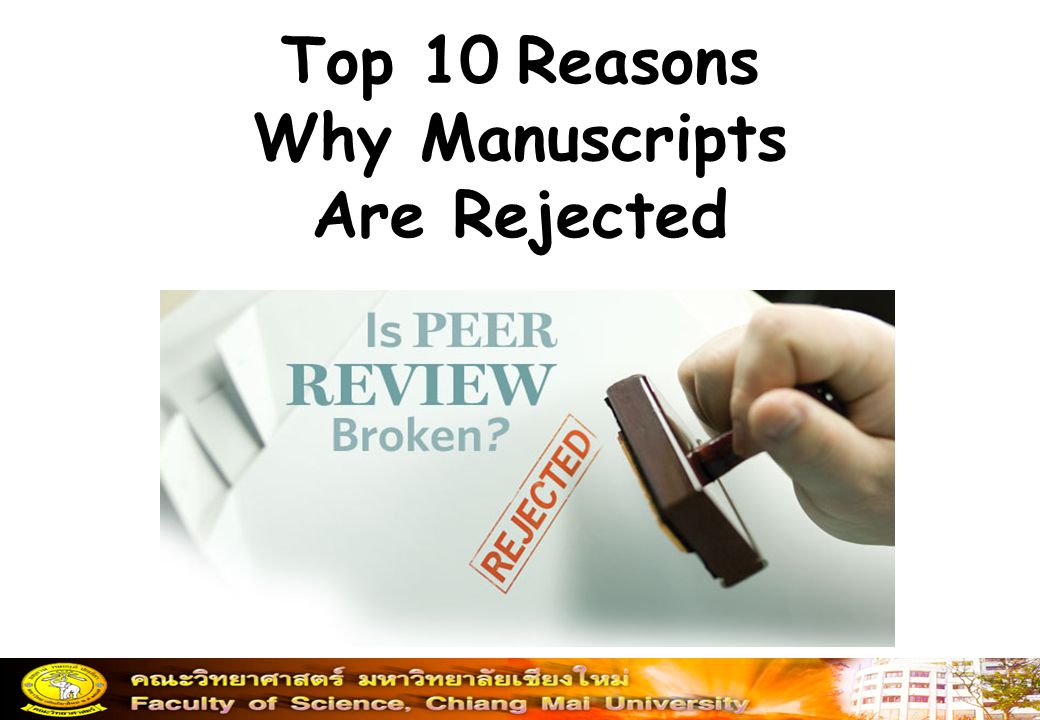 Top 10 Reasons Why Manuscripts Are Rejected