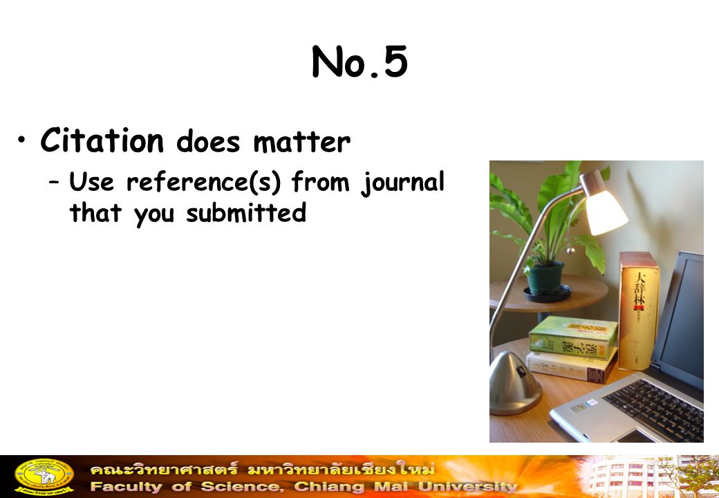 No.5 Citation does matter