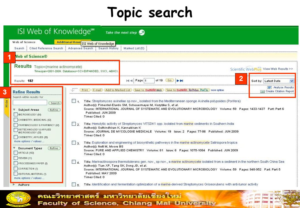 Topic search 1 2 3