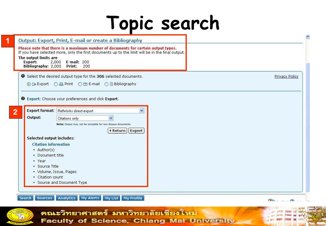 Topic search 1 2