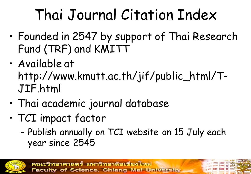 Thai Journal Citation Index