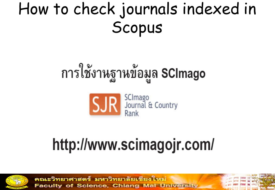 How to check journals indexed in Scopus
