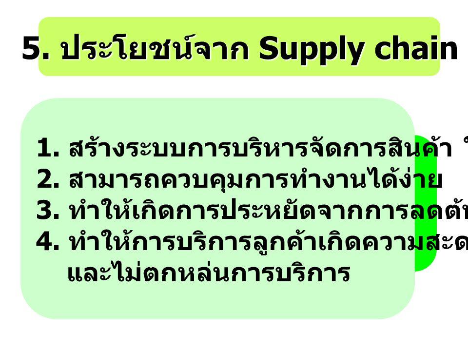 5. ประโยชน์จาก Supply chain