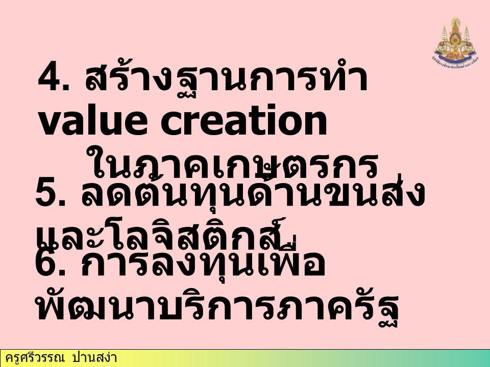 4. สร้างฐานการทำ value creation