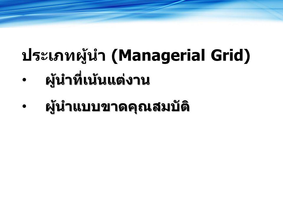 ประเภทผู้นำ (Managerial Grid)
