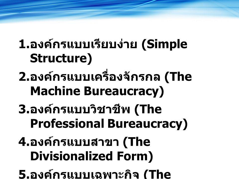องค์กรแบบเรียบง่าย (Simple Structure)