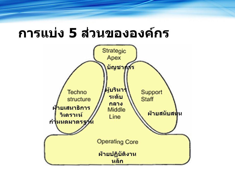 การแบ่ง 5 ส่วนขององค์กร