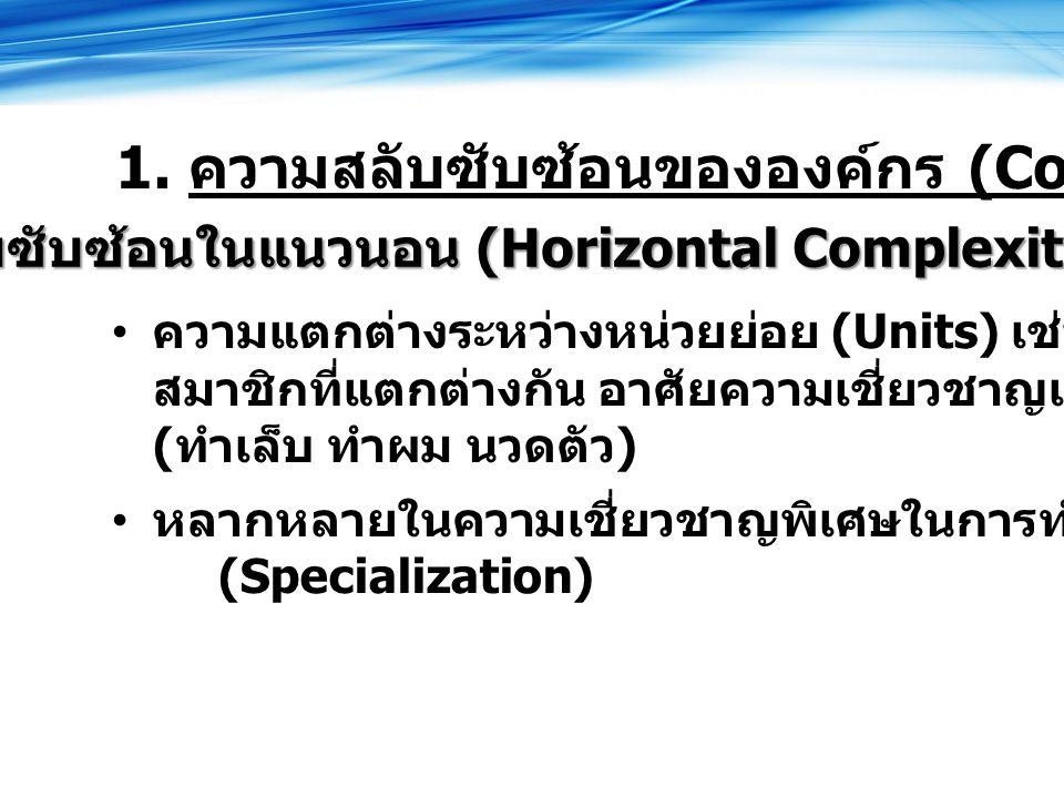 สลับซับซ้อนในแนวนอน (Horizontal Complexity)