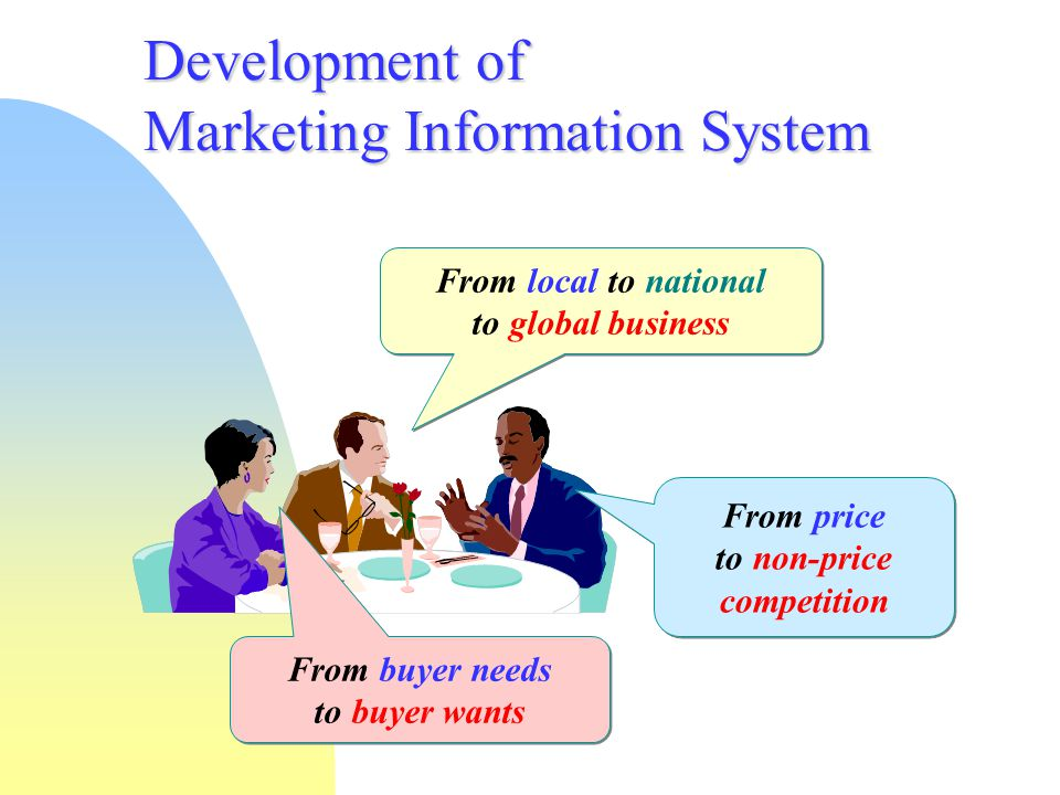 Development of Marketing Information System