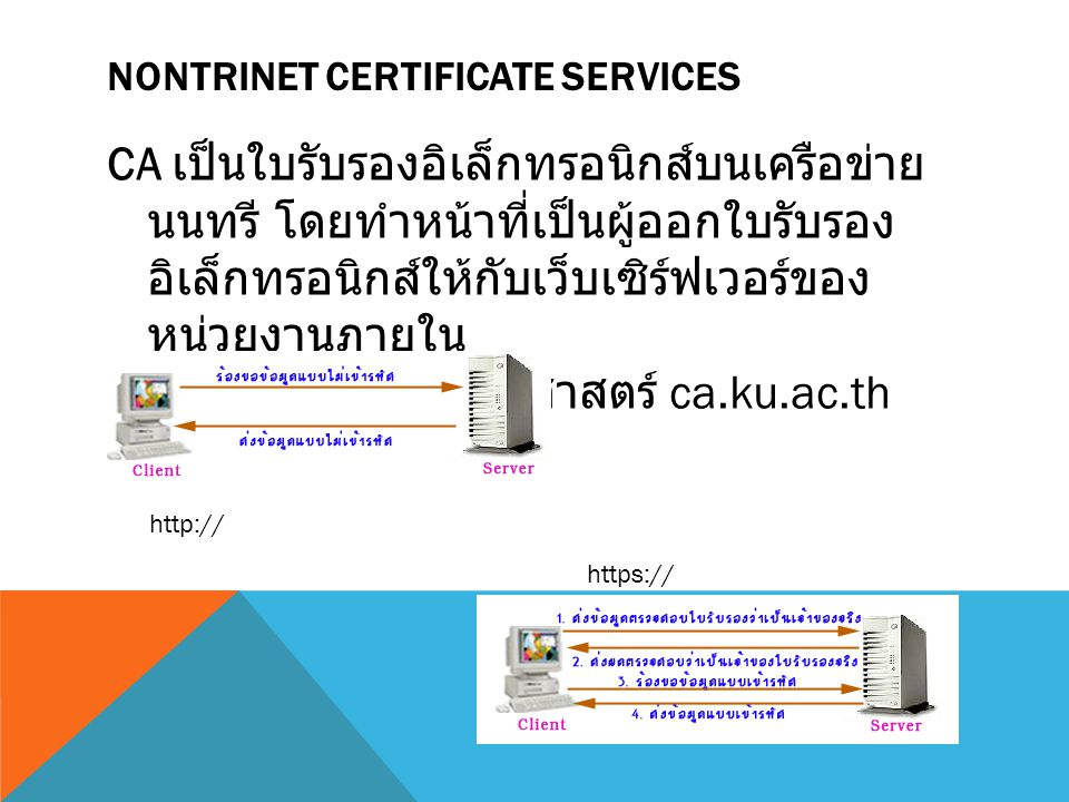 NontriNet Certificate Services