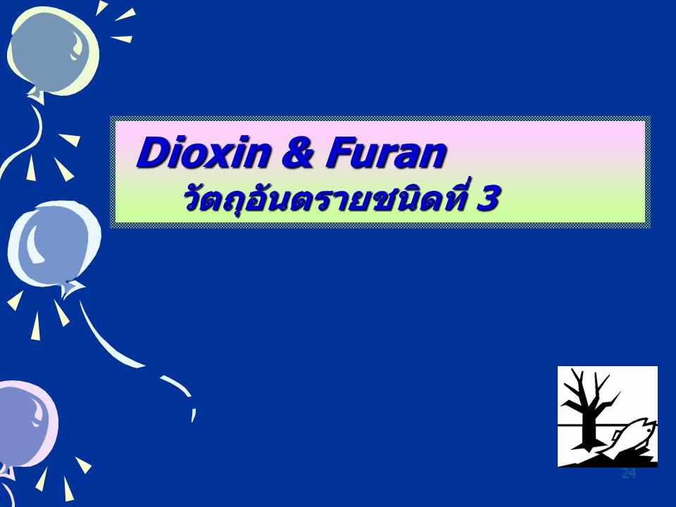 Dioxin & Furan วัตถุอันตรายชนิดที่ 3
