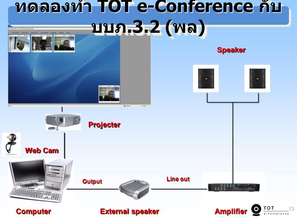 ทดลองทำ TOT e-Conference กับ บบภ.3.2 (พล)