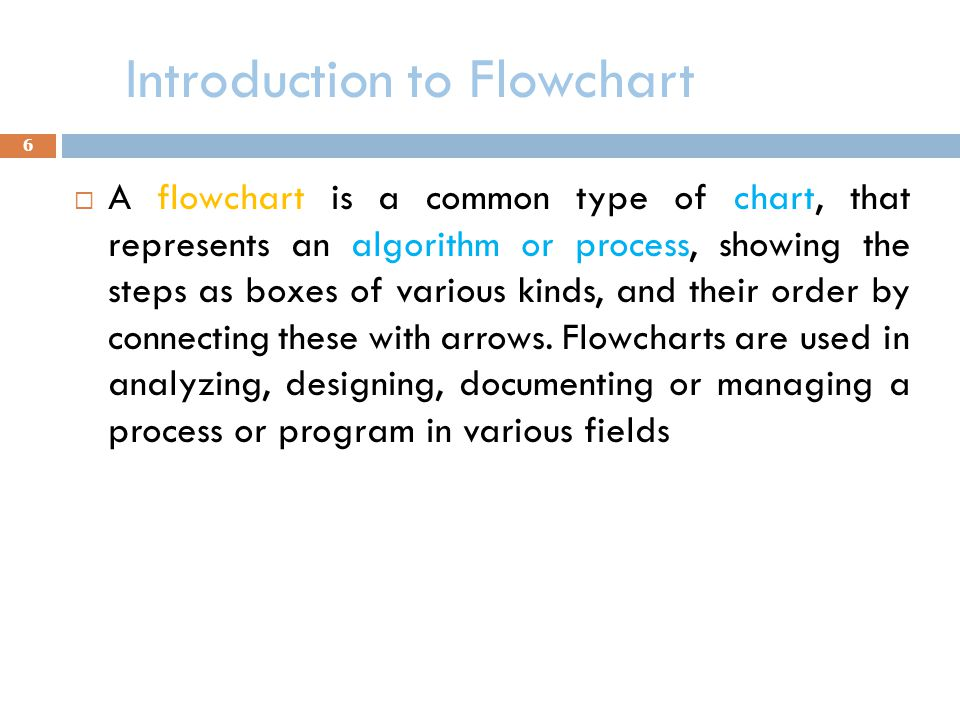 Introduction to Flowchart
