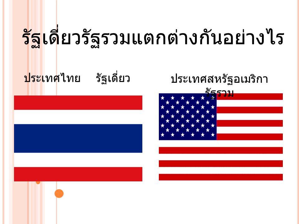 รัฐเดี่ยวรัฐรวมแตกต่างกันอย่างไร