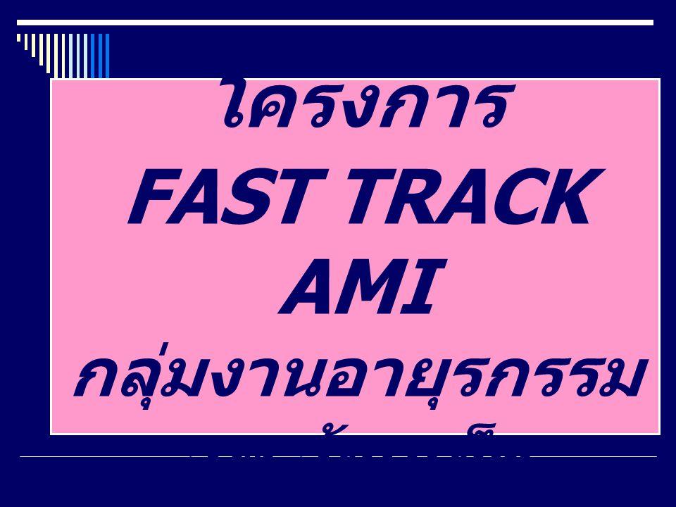 โครงการ FAST TRACK AMI กลุ่มงานอายุรกรรม รพ.ร้อยเอ็ด