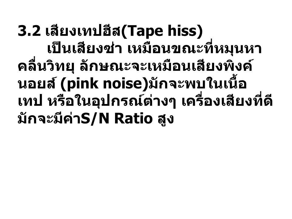 3. 2 เสียงเทปฮีส(Tape hiss)