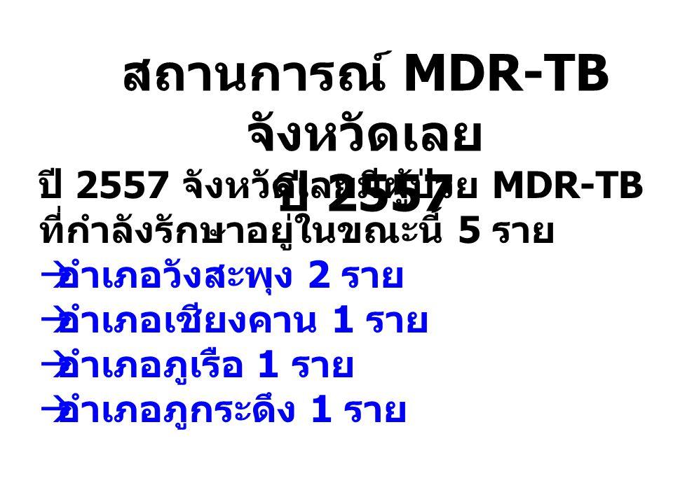 สถานการณ์ MDR-TB จังหวัดเลย