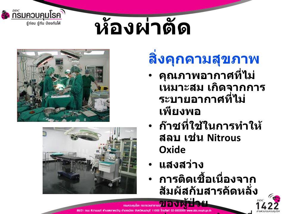 ห้องผ่าตัด สิ่งคุกคามสุขภาพ