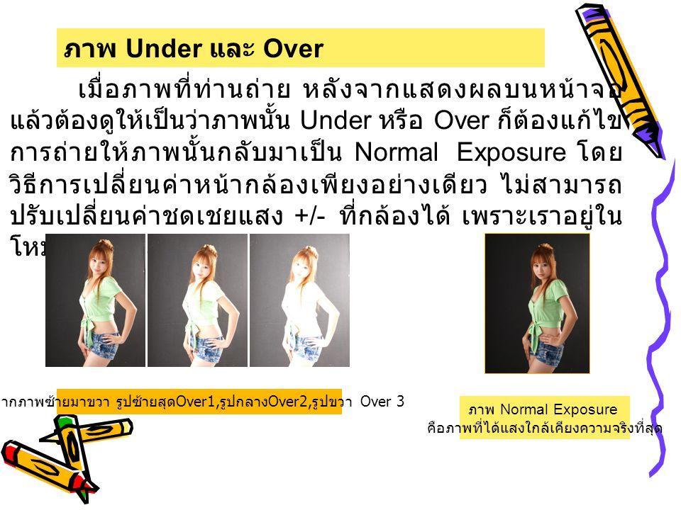 ภาพ Under และ Over