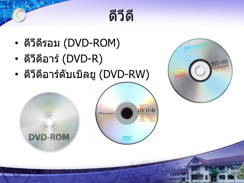 ดีวีดี ดีวีดีรอม (DVD-ROM) ดีวีดีอาร์ (DVD-R)
