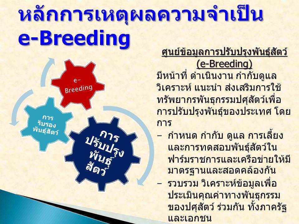 หลักการเหตุผลความจำเป็น e-Breeding