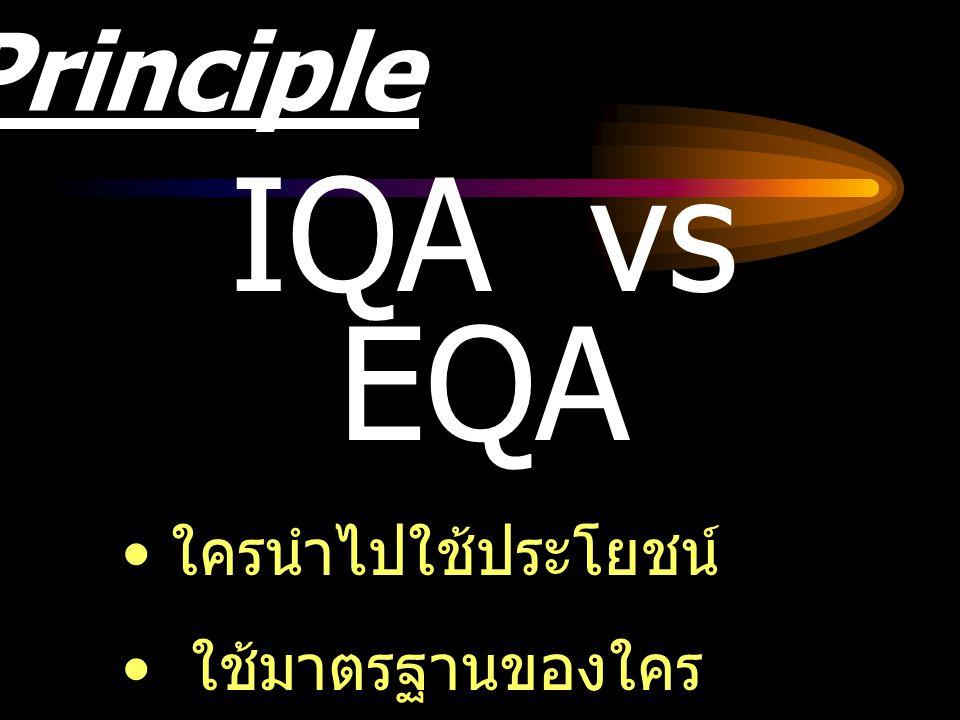 IQA vs EQA Principle ใครนำไปใช้ประโยชน์ ใช้มาตรฐานของใคร
