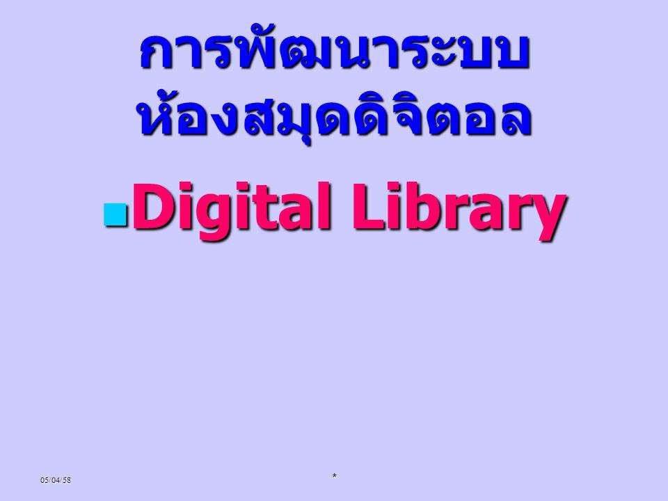 การพัฒนาระบบห้องสมุดดิจิตอล