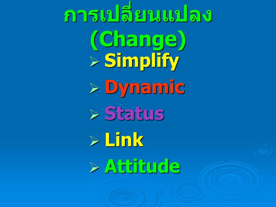 การเปลี่ยนแปลง(Change)