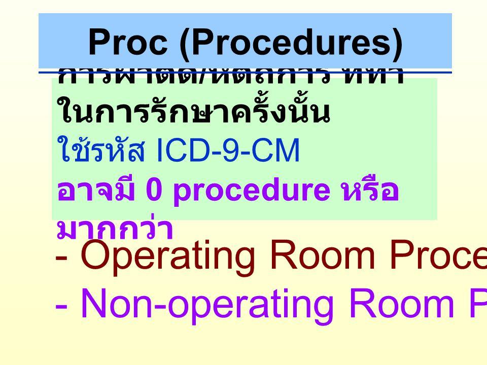 - Operating Room Procedures - Non-operating Room Procedures