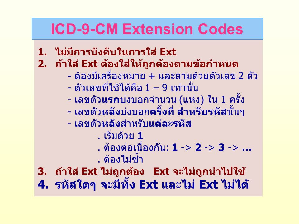 ICD-9-CM Extension Codes