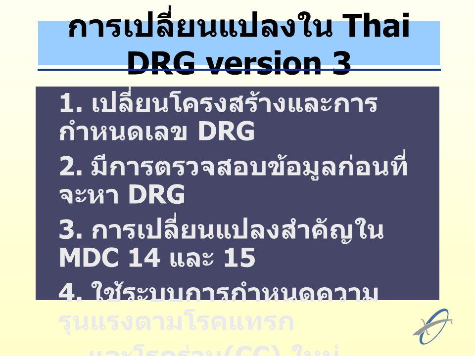 การเปลี่ยนแปลงใน Thai DRG version 3