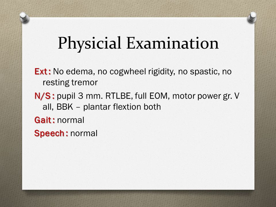 Physicial Examination