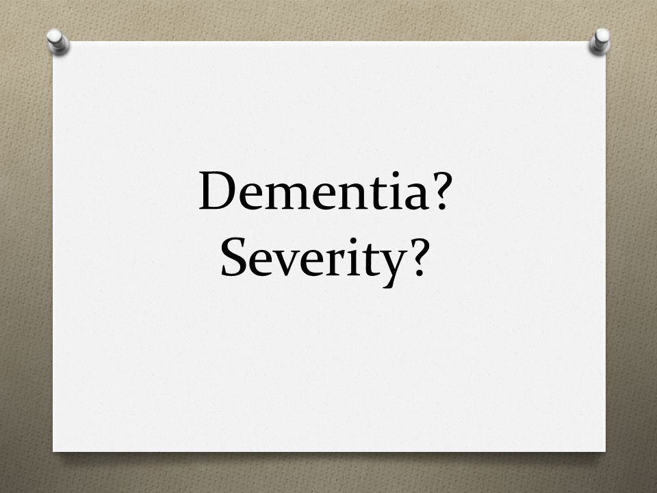 Dementia Severity