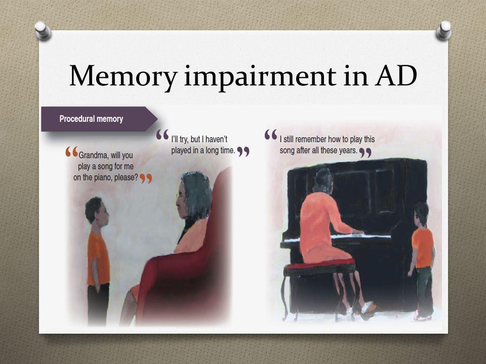 Memory impairment in AD