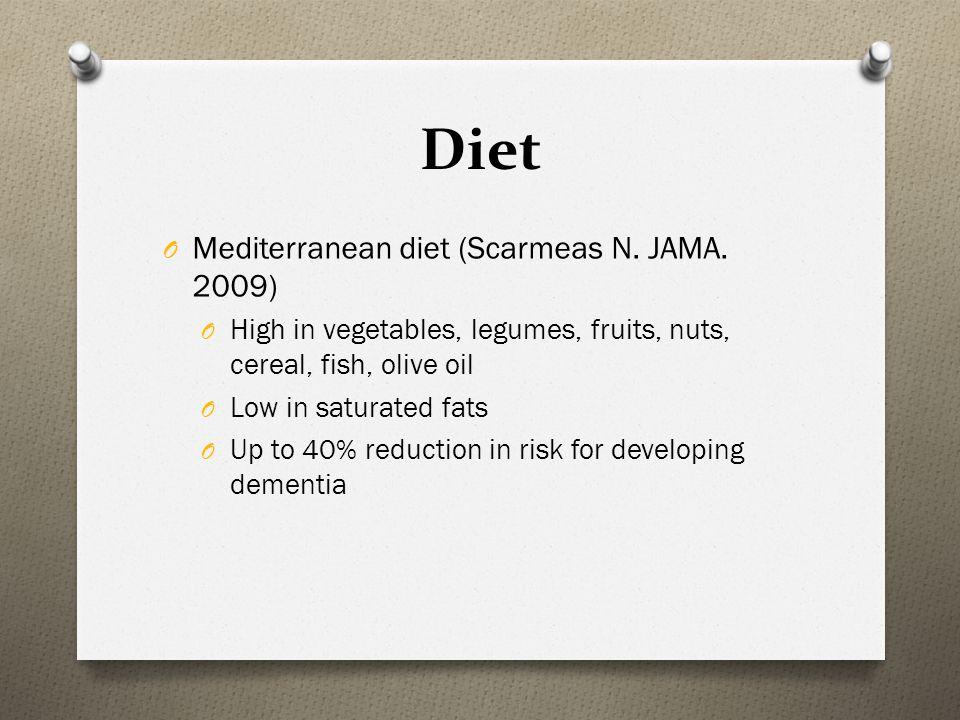 Diet Mediterranean diet (Scarmeas N. JAMA. 2009)