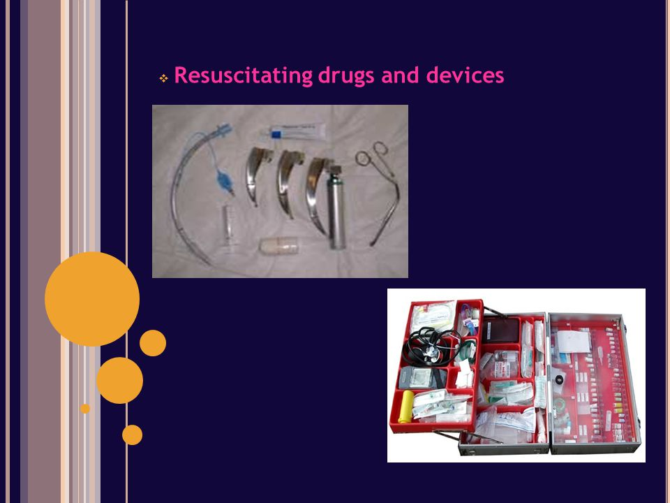 Resuscitating drugs and devices