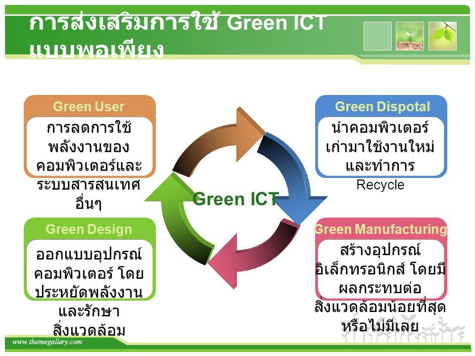 การส่งเสริมการใช้ Green ICT แบบพอเพียง