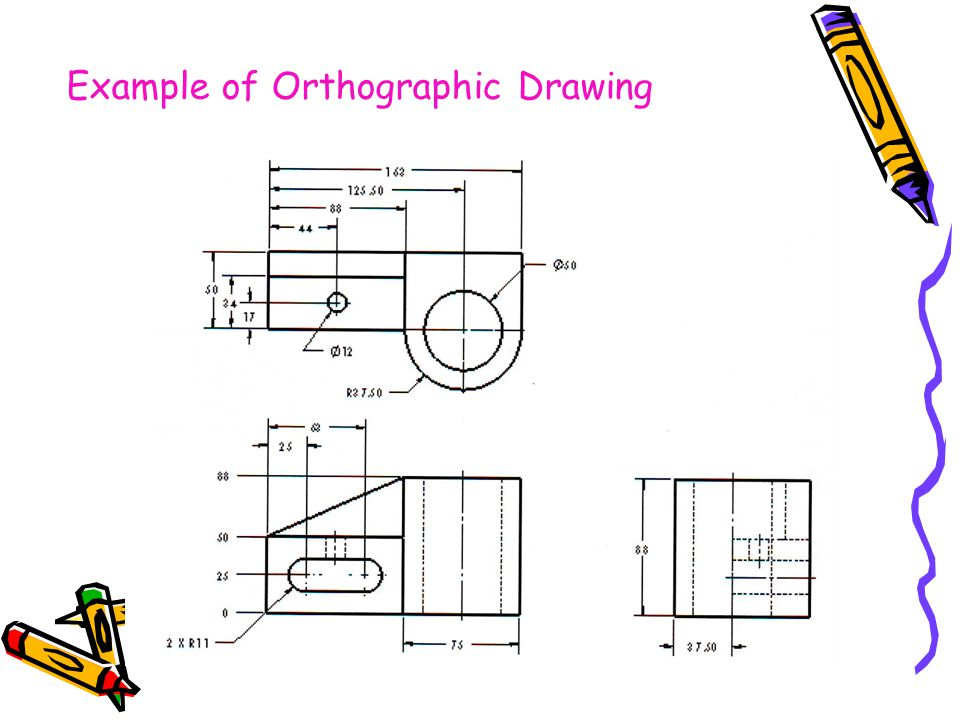 Example of Orthographic Drawing